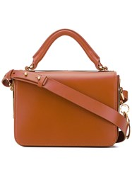 Sophie Hulme Classic Cross Body Tote Women Calf Leather One Size Brown