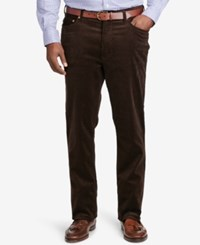 Polo Ralph Lauren Men's Big And Tall Classic Fit Stretch Corduroy Pants Worth Brown
