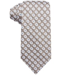 Tasso Elba Men's Tacoma Medallion Classic Tie Only At Macy's Taupe
