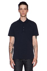 7 For All Mankind Placket Polo Navy