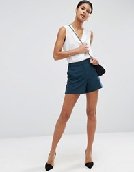 Asos Tailored A Line Shorts Teal Green