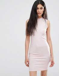 Only Pink Bodycon Dress Pink Glo Melange
