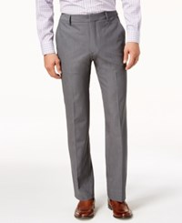 Kenneth Cole New York Stretch Twill Dress Pants Charcoal