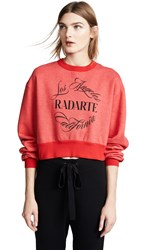 Rodarte Radarte Emblem Sweatshirt Red Black