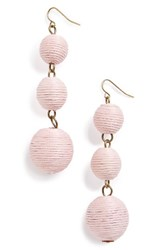 Baublebar Women's Crispin Drop Earrings Light Pink