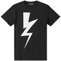 Neil Barrett Abstract Bolt Tee Black