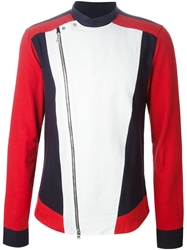 Balmain Colour Block Zipped Up Cardigan