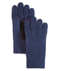 Bloomingdale's The Men's Store At Suede Patch Tech Gloves Navy Black