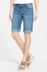 Women's Cj By Cookie Johnson 'Honor' Roll Cuff Denim Bermuda Shorts Ruffin