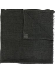 Hope 'Big' Textured Frayed Scarf Black