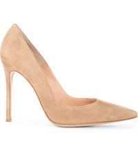 Gianvito Rossi Bari Suede Court Shoes Taupe