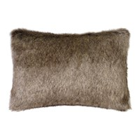 Helen Moore Faux Fur Truffle Cushion Brown