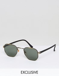 Reclaimed Vintage Inspired Metal Round Sunglasses In Silver Silver