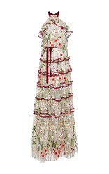 Alexis Glory Floral Embroidered Gown White
