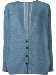 Raquel Allegra Distressed Back Cardigan Blue