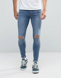 Dr. Denim Dr Dixy Extreme Super Skinny Jeans Lt Stone Destroyed Blue