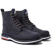 Moncler New Vancouver Suede And Shell Boots Storm Blue