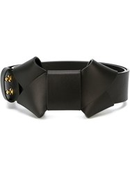 Marni Bow Detail Belt Black