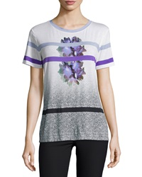 Prabal Gurung Short Sleeve Round Neck Tee Mid Purple