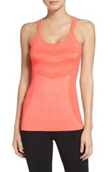 Zella Women's Activation Seamless Tank Coral Glow