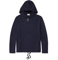 Acne Studios Kabel Merino Wool Blend Hoodie Navy