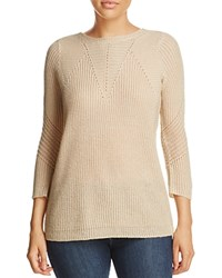 Design History Lace Up Sweater Biscotti Heather