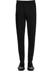 Balenciaga Stretch Cotton Jersey Slim Fit Pants Black
