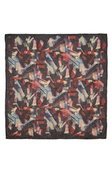 Lafayette 148 New York Women's Wool Silk And Cashmere Scarf Blue Note Multi