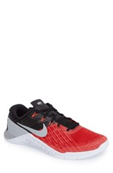 Nike Men's Metcon 3 Training Shoe University Red Wolf Grey