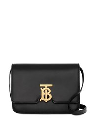 Burberry Small Tb Leather Shoulder Bag Black