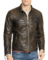 Ralph Lauren Vegetable Dyed Leather Racer Jacket
