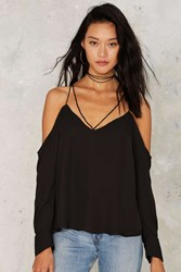Bardot Stevie Cold Shoulder Top Black