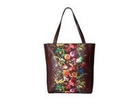 Elliott Lucca Bali '89 All Day Tote Black Cherry Autumn Botanica Tote Handbags Brown