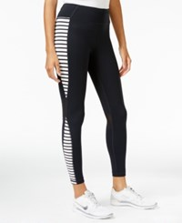 Tommy Hilfiger Sport Striped Leggings A Macy's Exclusive Style Black Combo