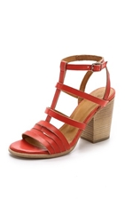 Coclico Cat Block Heel Sandals Marsala