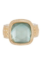 Anna Beck 18K Gold Plated Sterling Silver Green Amethyst Ring