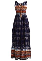 Anna Field Maxi Dress Navy Ginger Bread Dark Blue