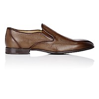 Barneys New York Men's Venetian Loafers Dark Brown
