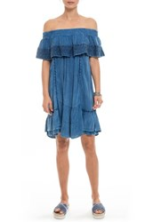 Muche Et Muchette 'S Gavin Ruffle Cover Up Dress Denim Navy