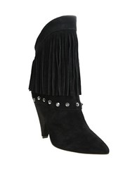 William Rast Yolanda Fringed Suede Boots Black