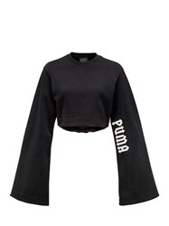 Fenty X Puma Long Kimono Sleeve Cotton Crop T Shirt