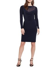 Lauren Ralph Lauren Mesh Yoke Jersey Dress