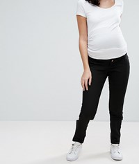 Mamalicious Over The Bump Slim Fit Jean Black