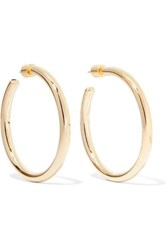Jennifer Fisher Baby Lilly Gold Plated Hoop Earrings One Size