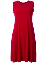 Norma Kamali Sleeveless Swing Dress Red