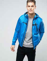 Blend Of America Windbreaker Zip Thru Hooded Jacket 74632 Blue