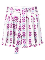 Dodo Bar Or Embroidered Pleated Skirt Purple