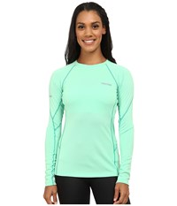 Marmot Thermalclime Sport L S Crew Green Frost Women's Long Sleeve Pullover Navy