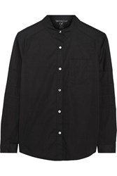 Marc By Marc Jacobs Aiko Cotton Blend Poplin Shirt Black