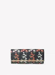 Dorothy Perkins Black Embroidery Print Curved Clutch Bag